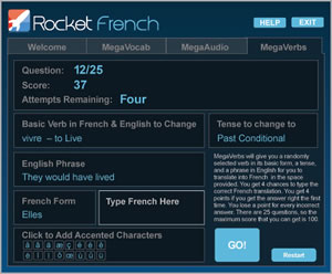 rocket french learning tool
