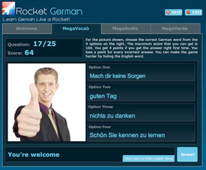 rocket german audio lessons