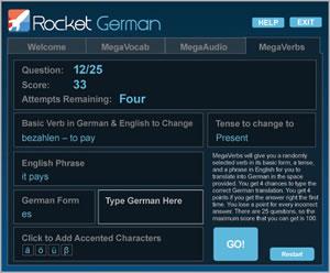 rocket german megavocab games