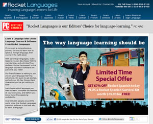 rocket languages homepage