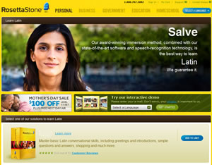 rosetta stone latin website